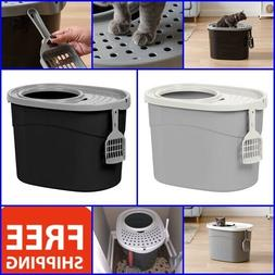 Extra Large Cat Litter Box Pet Covered W/ Scoop Giant Furnit