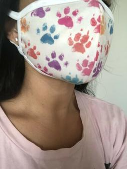 Face mask, cloth handmade, washable, 100% Cotton Lining, Pup