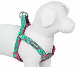 BLUEBERRY PET FLAMINGO HARNESS NEW W TAGS EMERALD GREEN PINK