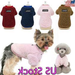 Fleece Pet Small Dog Harness Vest Jumper Sweater Coat Puppy