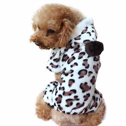 Fleece Small Dog Hoodie Female Autumn Winter Pet Jumpsuit Cl