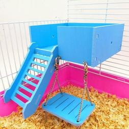 Flexible Wooden Hanging Swing Play Toy for Pet Hamster Mouse
