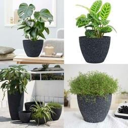 Flower Pots Indoor Outdoor Planter - 8.6 Inch Planter Pot Wi