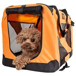 Pet Life Pet Crate, Orange, Large