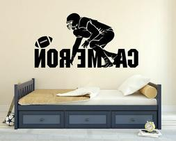 Football Player Name Personalized Custom Wall Decal Vinyl St