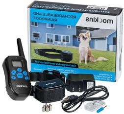 Mockins 990' FT Remote Rainproof DOG COLLAR Rechargeable Vib