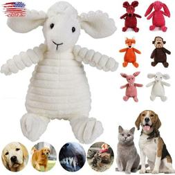 Funny Soft Pet Puppy Chew Play Animal Squeaky Cute Plush Sou