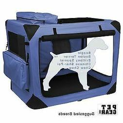 "Pet Gear Generation II Soft Pet Crate size: 29.5""L x 22""W x"