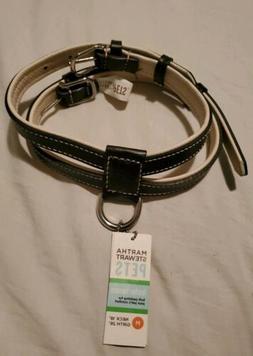 Martha Stewart Pets Genuine Leather Dog Harness Medium neck