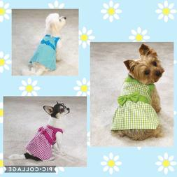 East Side Collection Gingham Summer Dress Blue Pink Green fo