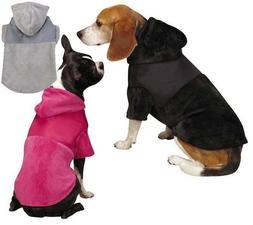 Zack & Zoey Glacier Cuddler pink gray black Dog Coat Hoodie