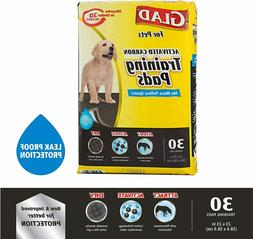 Glad Puppy Pads for Pets Black Charcoal | Puppy Potty Traini