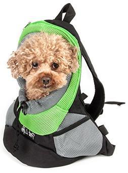 On-The-Go Supreme Travel Bark-Pack Backpack Pet Carrier, Gre