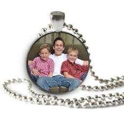 Great Gift Idea Custom Personalized Photo Necklace Keychain