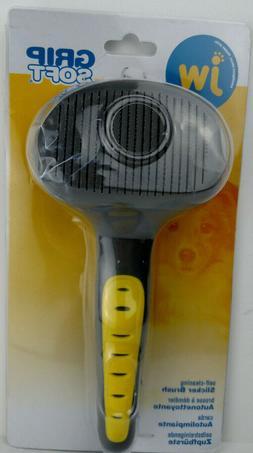 JW - Gripsoft - Slicker Brush - Self Cleaning Slicker Dog Br