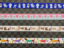"""GROSGRAIN RIBBON 7/8"""" Dog Pet Animal By the Yard COMBINED SH"""