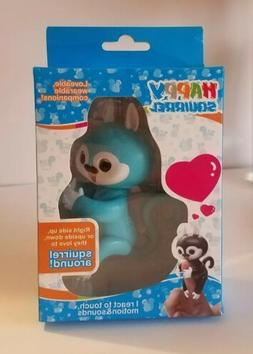 HAPPY SQUIRREL ELECTRONIC INTERACTIVE FINGER PET Blue FUN TO