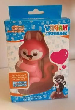 HAPPY SQUIRREL ELECTRONIC INTERACTIVE FINGER PET Pink FUN TO
