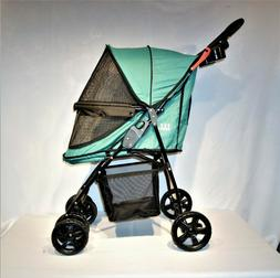 Pet Gear Happy Trails Lite No-Zip Pet Stroller in Pine Green