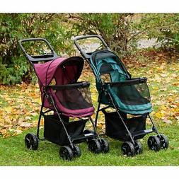 Pet Gear Happy Trails Lite NO-ZIP Stroller in Boysenberry, J