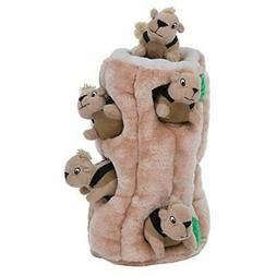Hide-A-Squirrel Puzzle Plush For Pets - Squeaking Chew Toys