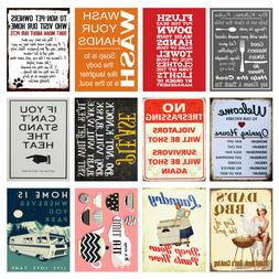 Home, Funny, Retro Metal Signs/Plaques, Cool Novelty Gift
