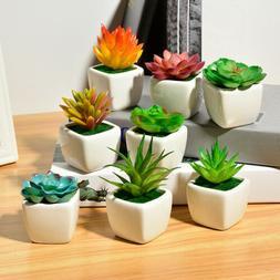 Home Garden Office Small Green Succulent Artificial Plants C