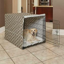 MidWest Homes for Pets Dog Crate Cover Brown Geometric Patte
