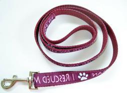 "I Rescued My Human Dog Pup Pet Standard ""City"" Fashion Leash"