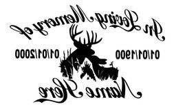 In Loving Memory Of - Hunter Deer Doe Buck Sticker Decal Mem