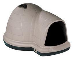 Petmate Indigo Dog House with Microban, Medium, Taupe Top, B