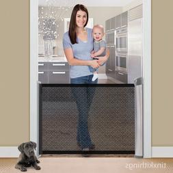Retractable Safety Baby Pet Gate Indoor Dog Barrier Door Way