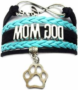 Infinity Love Dog Mom Paw Bracelet Handmade Pet Friendship L