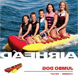 Inflatable Banana Boat Ride Towable 5 Person Jumbo Dog Tube