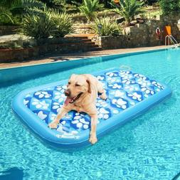 Inflatable dog Pool Float Swimming Ride On Pool Raft Toy for