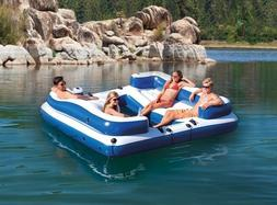 Inflatable Floating Island Giant 5 Person Raft Lake Party Lo