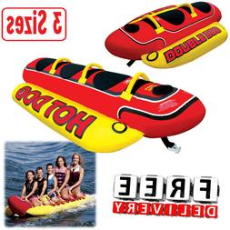 Inflatable Towable 2/3/5 Person Hot Dog Fun Tube Ski Water L