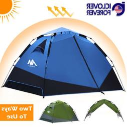 Instant Tent for Camping 3 4 Person Waterproof Dome Pop Up T
