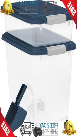 IRIS USA, Inc. 3 Piece Airtight Pet Food Storage Container C