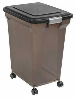 IRIS USA Premium Airtight Pet Food Storage Container, Black,