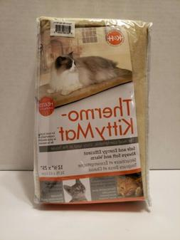 K&H Pet Products 3291 12.5x25inch Thermo Kitty Mat - cream,