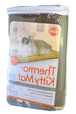 K&H Pet Products 3291 12.5x25inch Thermo Kitty Mat - Mocha