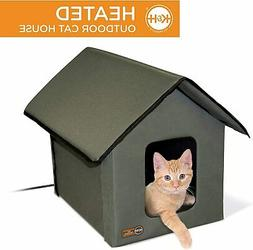 K and H PET PRODUCTS Outdoor Heated Kitty House,