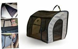 K&H Manufacturing Travel Safety Pet Carrier, Gray, Medium