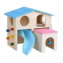 Kathson Pet Small Animal Hideout Hamster House with Funny Cl