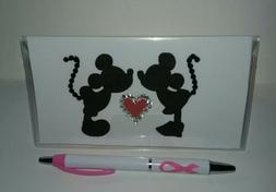 Kissing Mickey & Minnie Checkbook Cover with Free Awareness