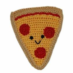 Mirage Pet Products Knit Knacks Pizza Organic Cotton Small D