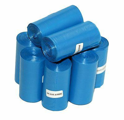 1012 DOG PET WASTE POOP BAGS 44 BLUE UNSCENT REFILL ROLL COR