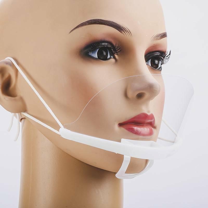 10pcs clear plastic mouth face cover masks