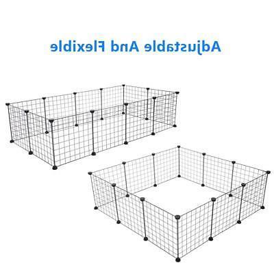 12 X Metal Dog Playpen Pet Play Cage